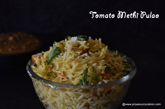Methi Rice Recipe (Methi pulao recipe) Fenugreek Leaves ...