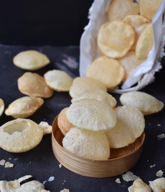how to make suji golgappa