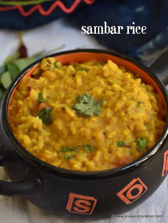 sambar rice sadam recipe