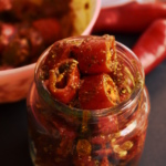 instant red chili pickle recipe | lal mirch ka achar recipe, red chili pickle
