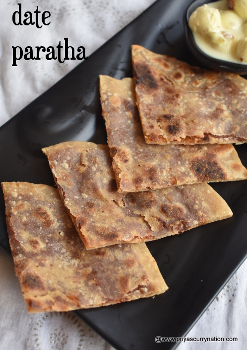 date-khajoor-paratha-recipe