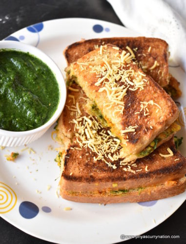 This Is An Easy And Simple Vegetarian Sandwich Recipe With Potato Filling It Excellent Lunch Box For Kids Serve Some